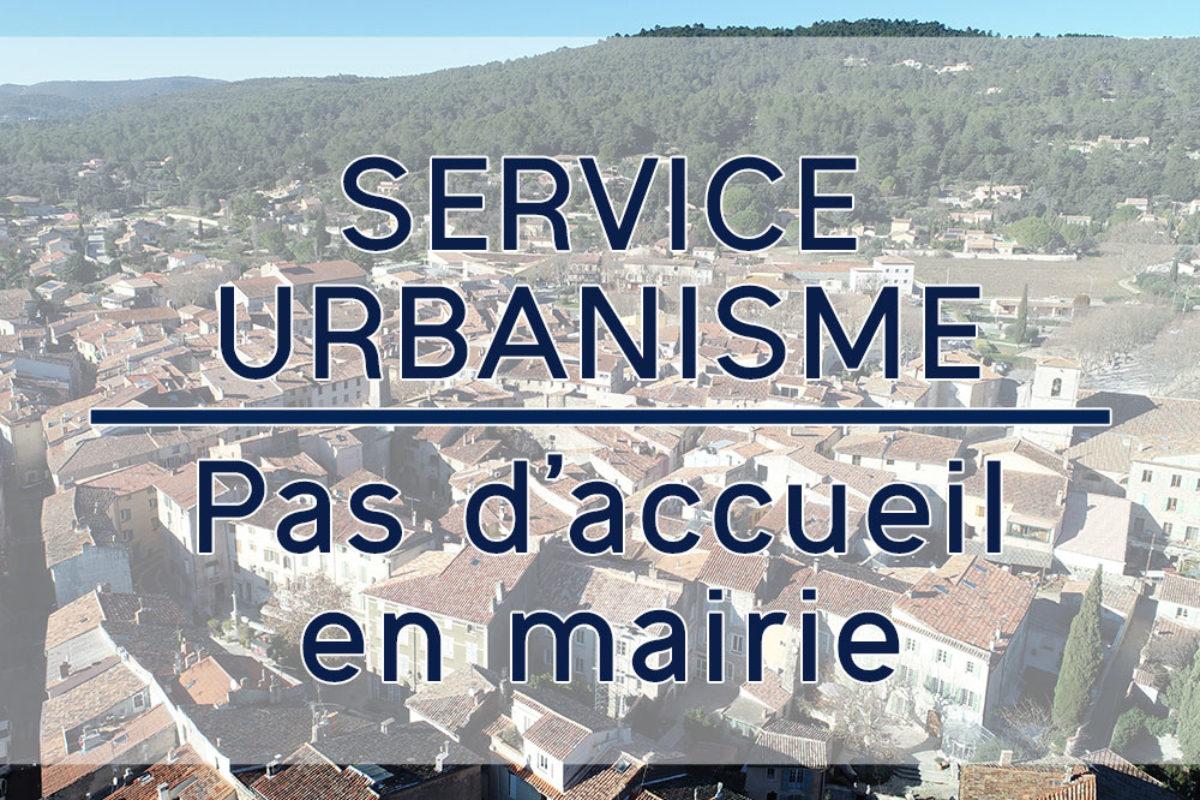 Service urbanisme – pas d'accueil en mairie